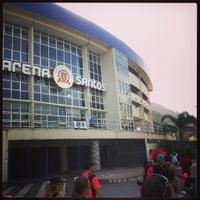 Photo taken at Arena Santos by Daíza L. on 5/19/2013