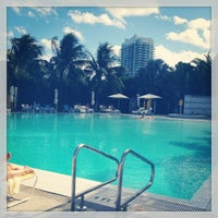 Photo taken at Pool at The Standard Spa, Miami Beach by Garret L. on 2/2/2013