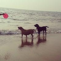 Photo taken at Anjuna Beach by Alina on 11/10/2013