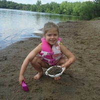 Photo taken at Carver lake beach by Vanessa P. on 7/29/2013