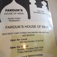 Photo taken at Farouk's House of India by Matthew M R. on 1/14/2015