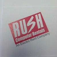 Photo taken at Rush Computer Rentals by John H. on 3/27/2013
