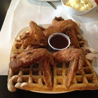 Photo taken at Dame's Chicken & Waffles by Gee B. on 9/24/2012