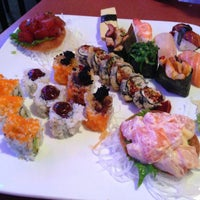 Photo taken at Ru San's Japanese Sushi & Cuisine by Jimmy L. on 4/16/2013
