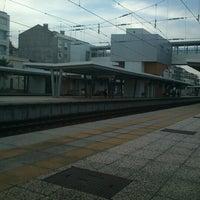 Photo taken at Estação Ferroviária de Moscavide by Sergio P. on 10/13/2012