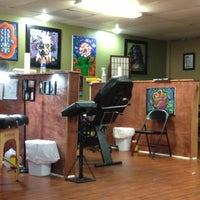 Photo taken at Doll Face Ink by Cathy J. on 7/11/2013