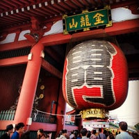 Photo taken at Kaminarimon Gate by Shigeki O. on 9/29/2012