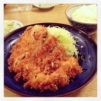 Photo taken at とんかつ武蔵 by Masa T. on 4/17/2013