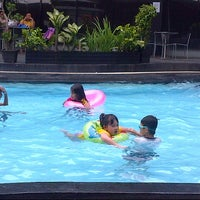 Photo taken at Swarna Dwipa Swiming Pool by Riona O. on 1/14/2014