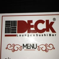 Photo taken at Deck Loungee Sushi Bar by Isabela R. on 9/19/2013