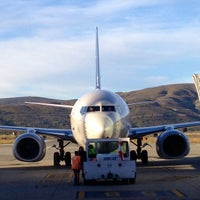 Photo taken at Aeropuerto Internacional de Bariloche - Teniente Luis Candelaria (BRC) by Edgardo R. on 3/12/2013