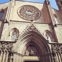 Photo taken at Basílica de Santa Maria del Mar by Ксения Г. on 3/23/2013