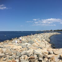 Photo taken at Rockport Harbor by Jesika M. on 8/7/2016