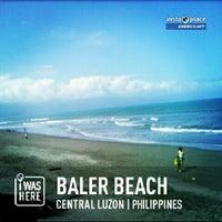 Photo taken at Baler Beach by Vanj T. on 3/17/2013