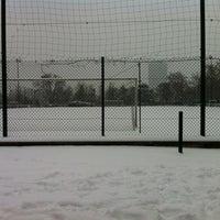Photo taken at Terrain de sport Jean-Pierre Wimille by Steph B. on 1/20/2013
