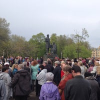 Photo taken at Памятник «Пушкин и крестьянка» by 🎉🎁🎊Мишка🎈🎂🎄 on 5/9/2014