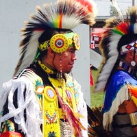 Photo taken at Arikara Celebration Powwow by Gabriel & Jeffrey on 7/12/2014