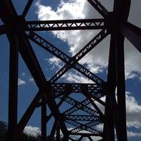 Photo taken at White River Monon Bridge by Dee A. on 5/13/2013