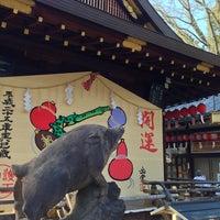Photo taken at 護王神社 (Goô-jinja Shrine) by neubee on 1/2/2013