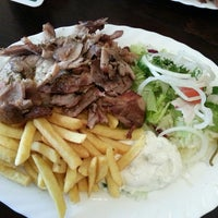 """Photo taken at """"Der Grieche"""" Grill Imbiss by Marc D. on 2/15/2013"""