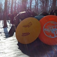 Photo taken at Marshall Street Pyramids Disc Golf Course by Zach S. on 11/10/2012