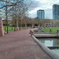 Photo taken at Bellevue Downtown Park by Samson N. on 4/6/2013