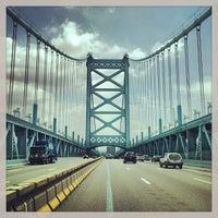 Photo taken at Benjamin Franklin Bridge by Mike D. on 7/4/2013