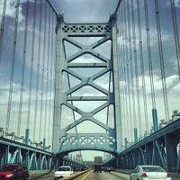 Photo taken at Benjamin Franklin Bridge by Mike D. on 5/14/2013