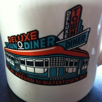Photo taken at Deluxe Town Diner by Jenna T. on 1/6/2013