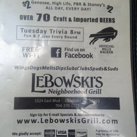 Photo taken at Lebowski's Neighborhood Grill by Troy P. on 7/14/2013