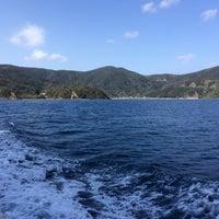 Photo taken at 奄美大島と加計呂麻島の間の海上 by minami y. on 1/27/2014