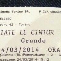 Photo taken at Cinema Eliseo by Gianni C. on 3/24/2014
