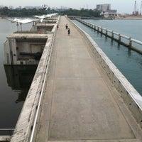 Photo taken at Marina Barrage by J O. on 9/14/2012