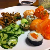 Photo taken at Sushi Express by Marina G. on 11/12/2012
