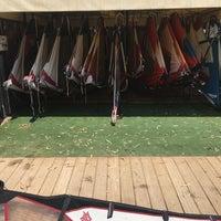 Photo taken at Tony Frey Windsurfing Club by Dionysis A. on 8/9/2016