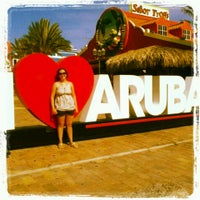 """Photo taken at """"I Love Aruba"""" Sign by Carla S. on 6/11/2013"""