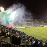 Photo taken at Stade Saputo by Patrick B. on 9/18/2014