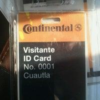 Photo taken at Continental Planta Cuautla by Ricardo T. on 5/17/2013