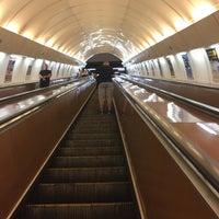 Photo taken at Metro =B= Karlovo náměstí by Aliss K. on 10/15/2017