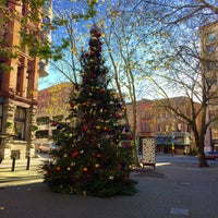 Photo taken at Pioneer Square Pergola by Kerry M. on 11/27/2015