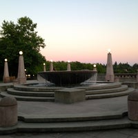 Photo taken at Bellevue Downtown Park by Kerry M. on 7/16/2013