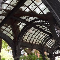 Photo taken at Pioneer Square Pergola by Kerry M. on 7/25/2015