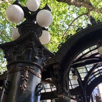 Photo taken at Pioneer Square Pergola by Kerry M. on 5/8/2015