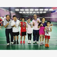 Photo taken at T Angle Sport Badminton Court by Goh C. on 5/31/2015
