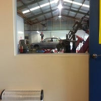 Photo taken at Tony's Tyre Service (Lower Hutt) by Tim T. on 10/24/2012