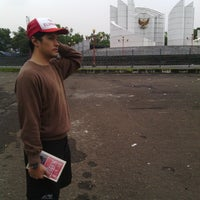Photo taken at Monumen Perjuangan Rakyat Jawa Barat by Qatrinnadya P. on 1/13/2014