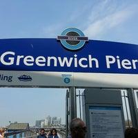 Photo taken at Greenwich Pier by Grace on 5/7/2013