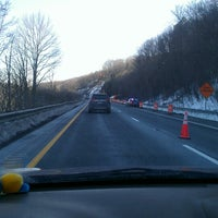 Photo taken at Mass Pike by Crystal H. on 2/14/2013