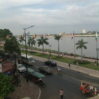 Photo taken at FCC Hotels and Restaurants- Phnom Penh by Jaime L. on 12/22/2012