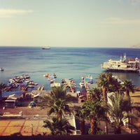 Photo taken at Royal Beach Eilat by Alexandra A. on 10/15/2012